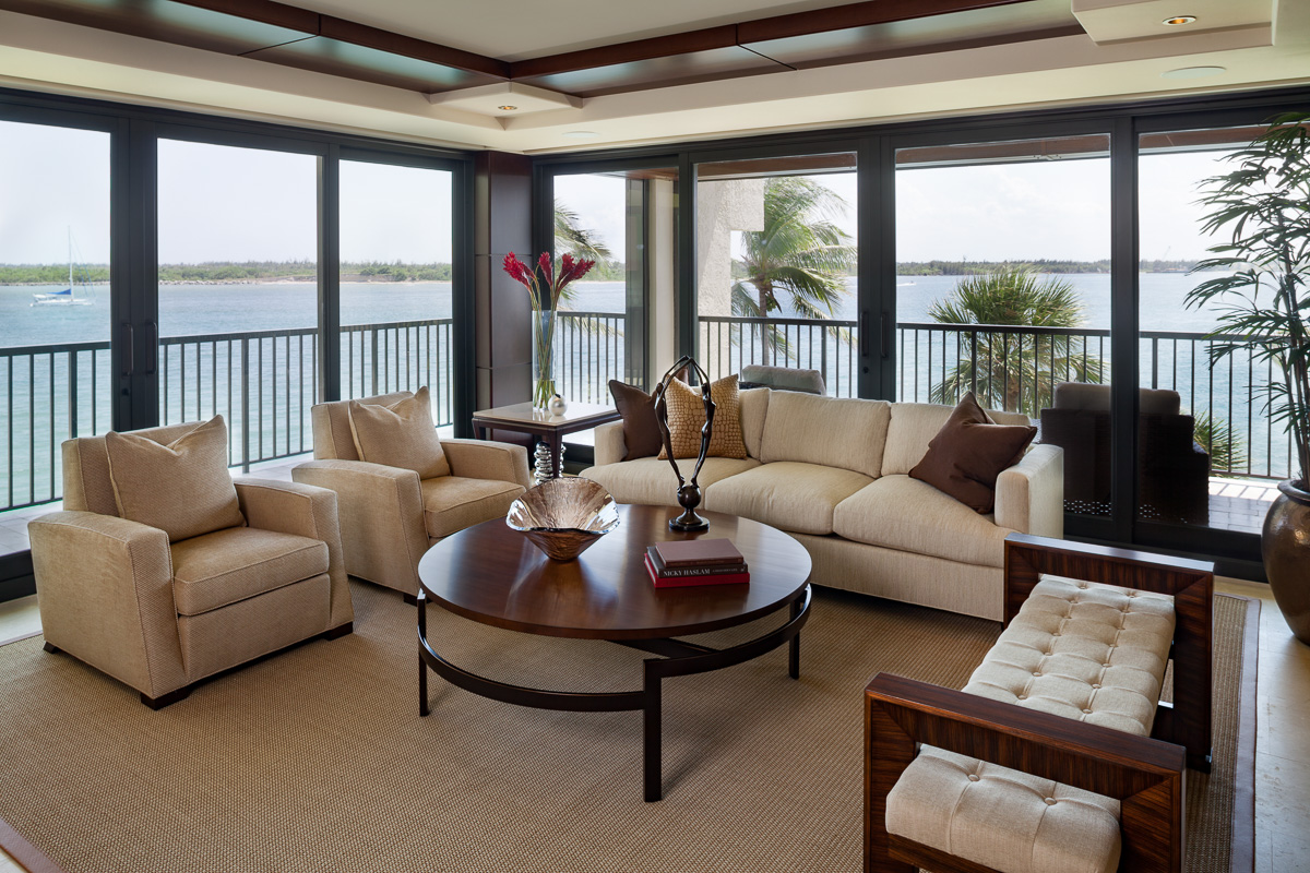 Living room with Atmospheric Interior Design Project, FL