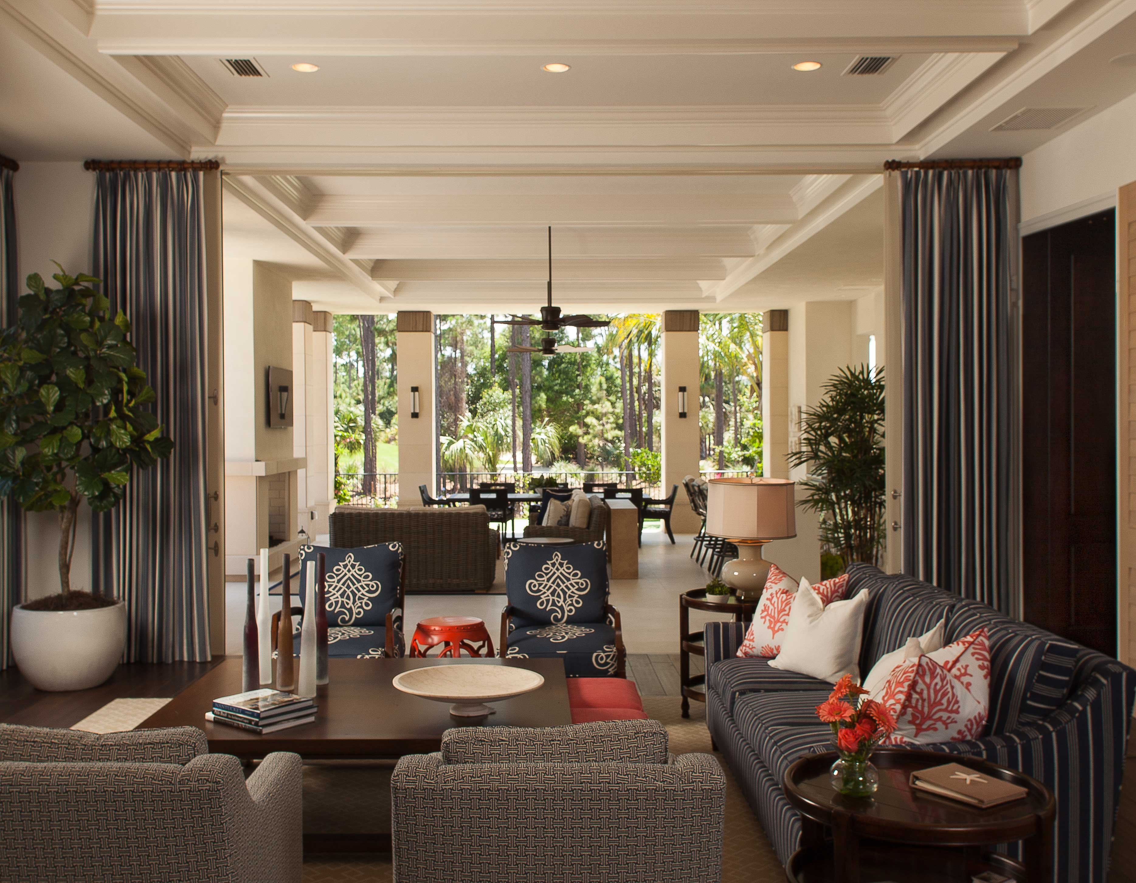 Living room with flowing design, Stuart, FL