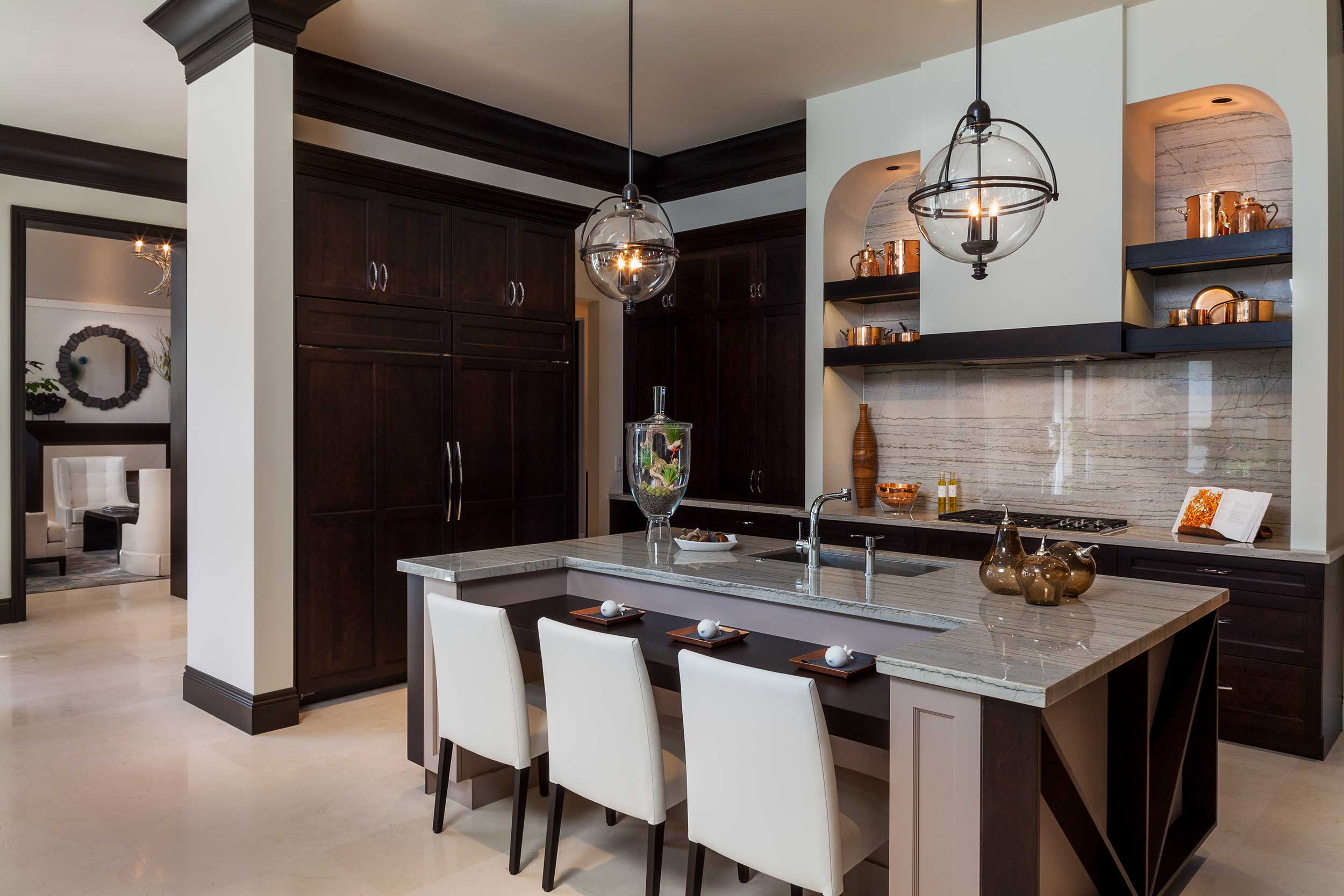 High end kitchen design at Old Palm Golf Club