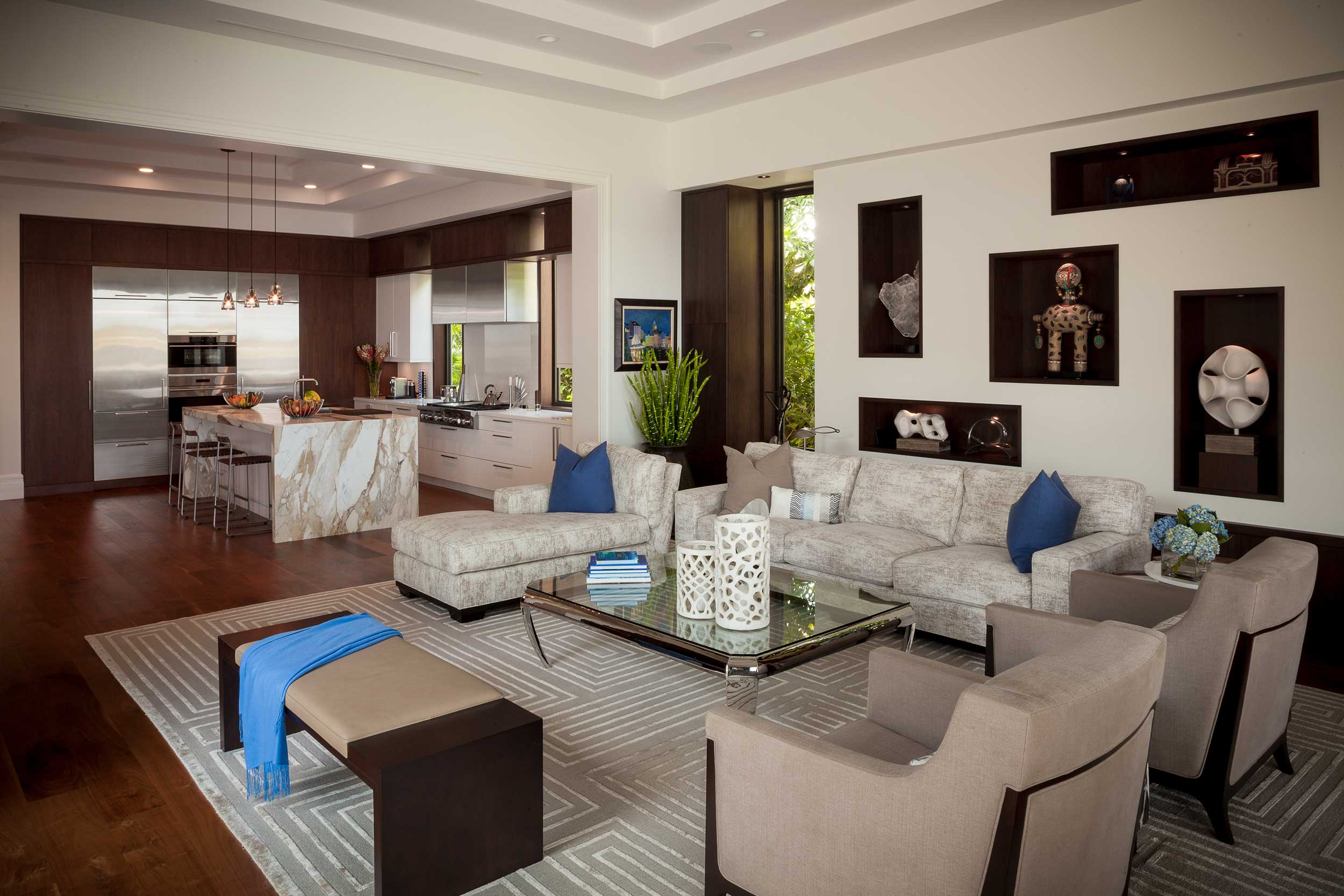Luxury living room at Old Palm Golf Club