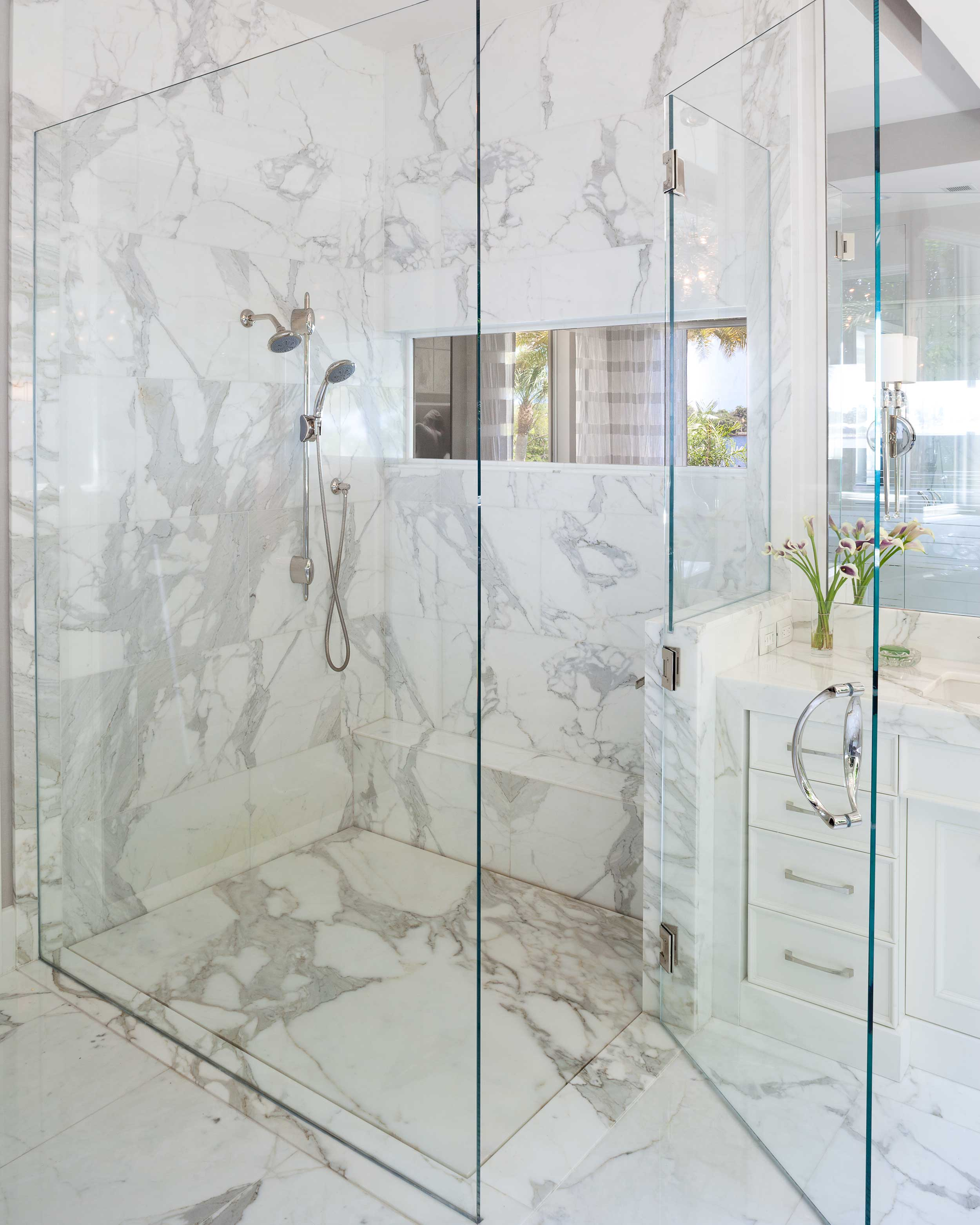 Luxury shower at Old Palm Golf Club