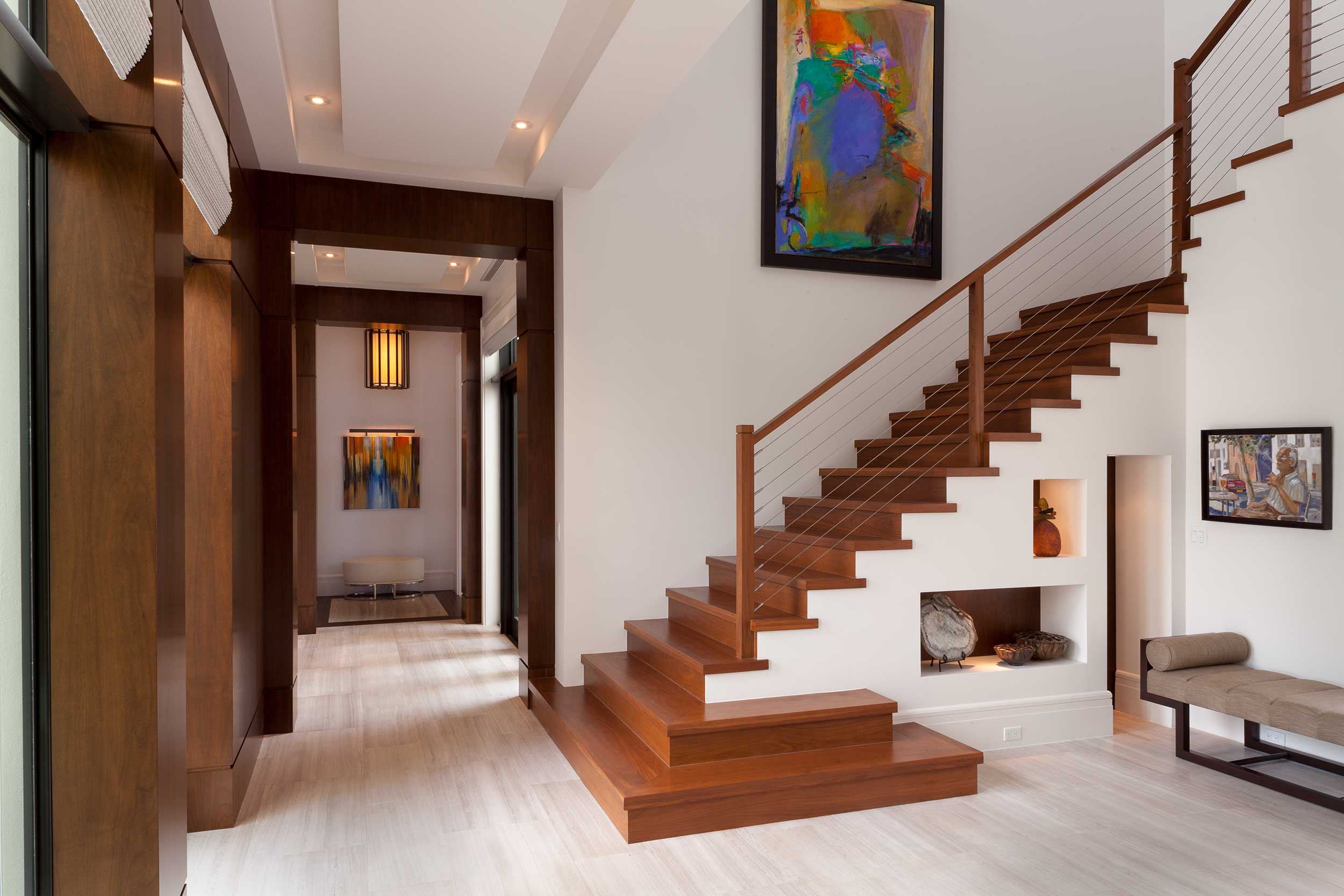 Modern staircase at Old Palm Golf Club