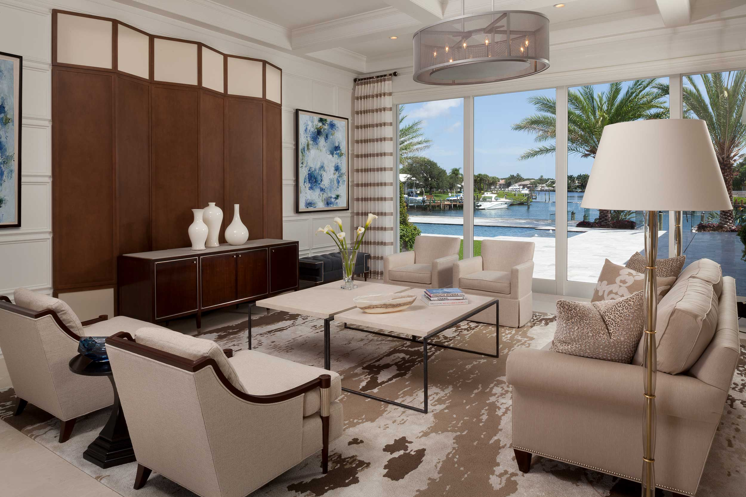 Living room at Residential Interior Architectural Design