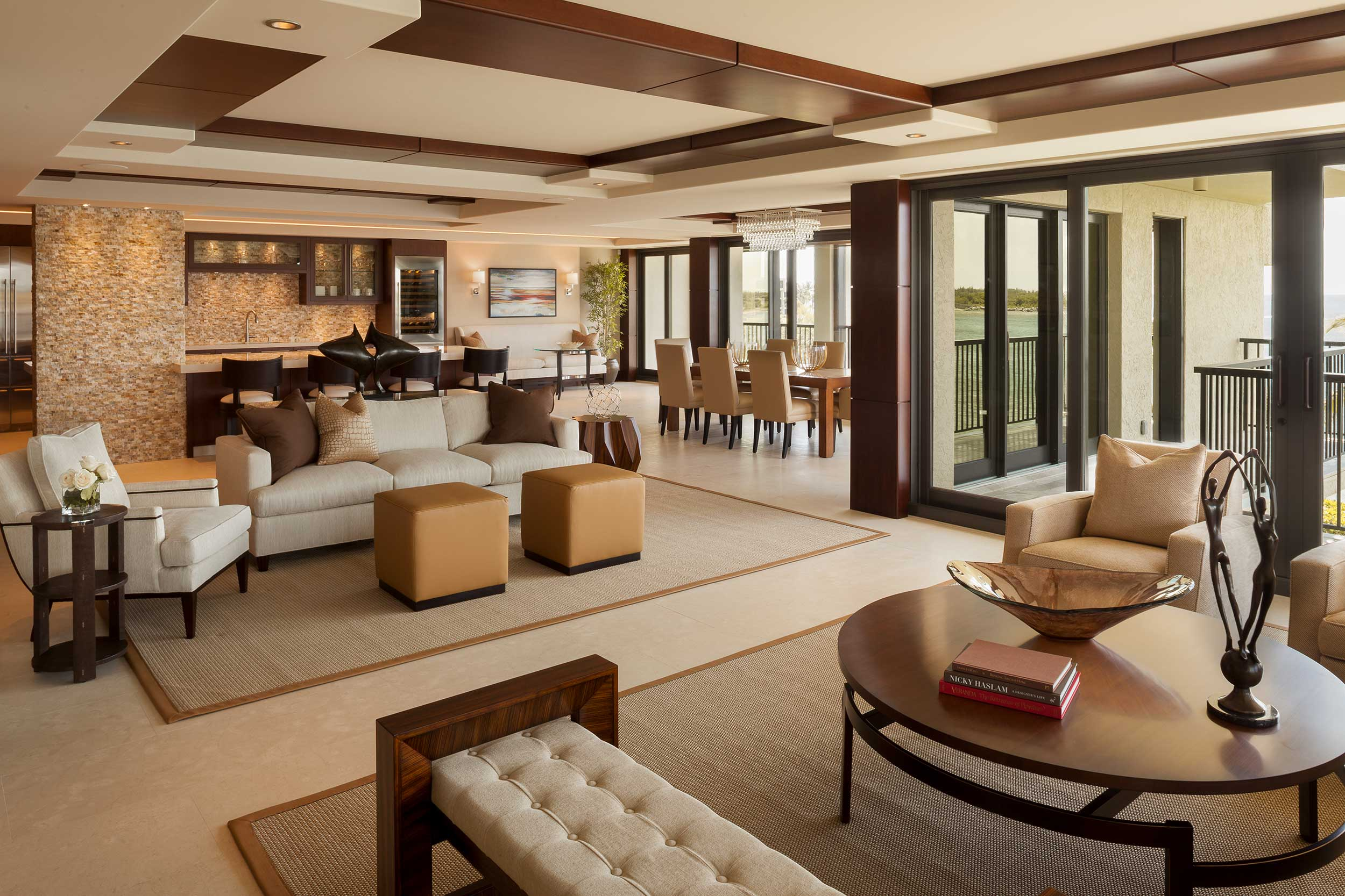 Open living space with atmospheric interior design, FL