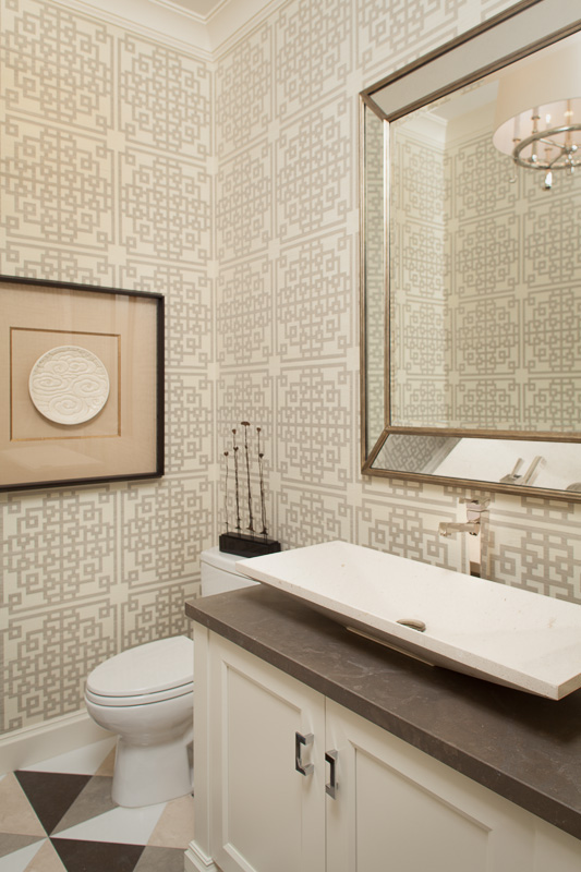 Half bathroom at residential interior design Project, Stuart, FL
