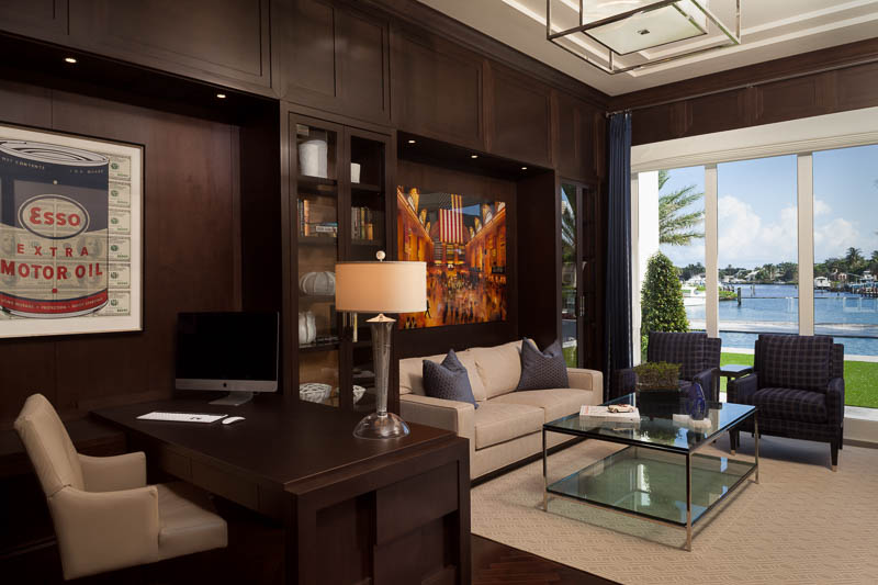 Home office with a view in Elegant Design at Old Palm Golf Club