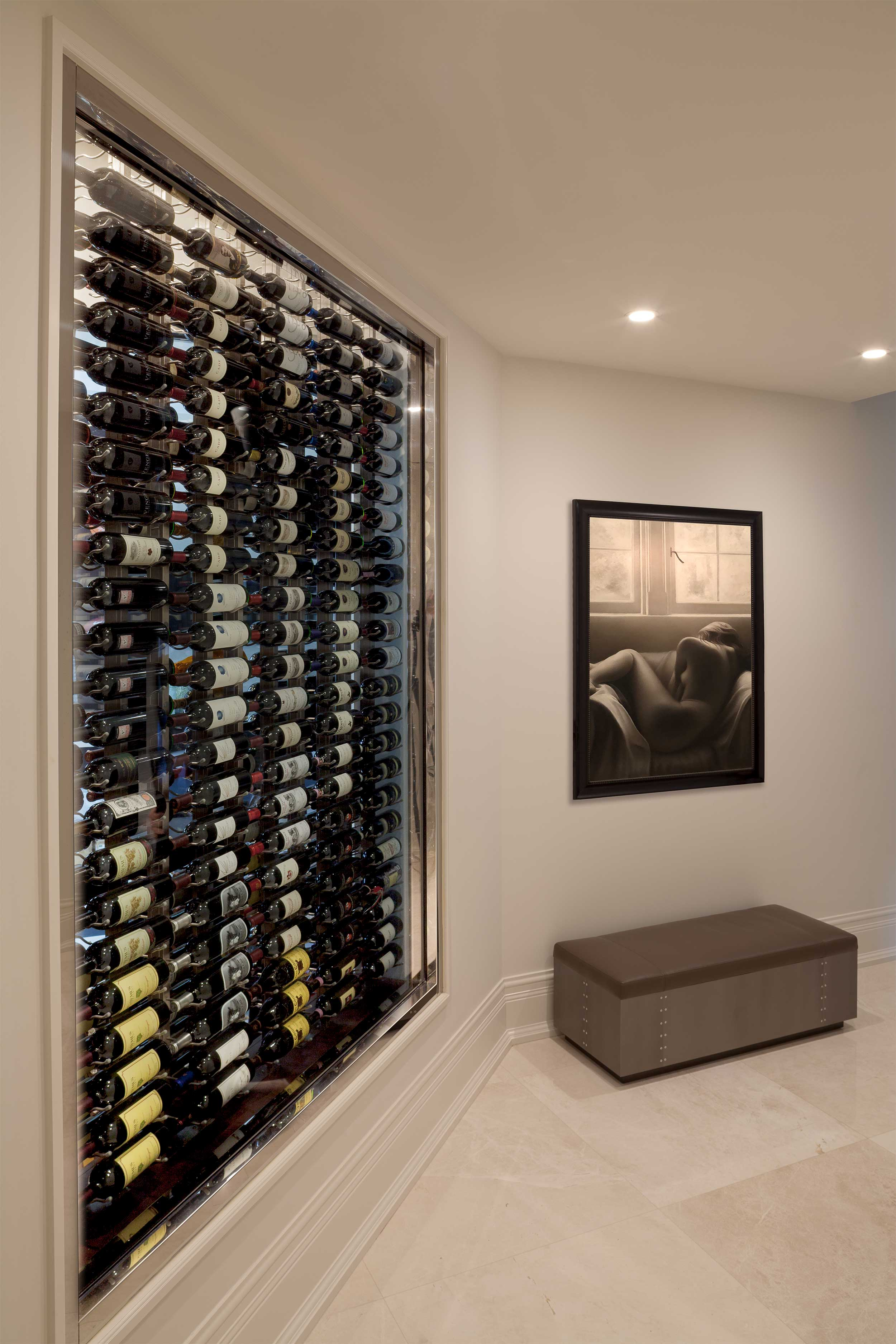 Wine cellar in Residential Interior Design Project in Jupiter, FL