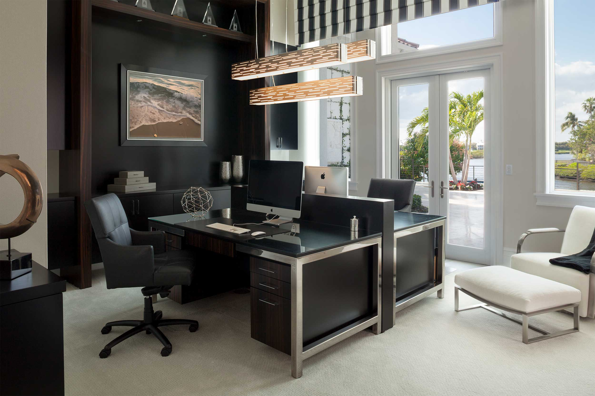 Home office in Residential Interior Design Project in Jupiter, FL