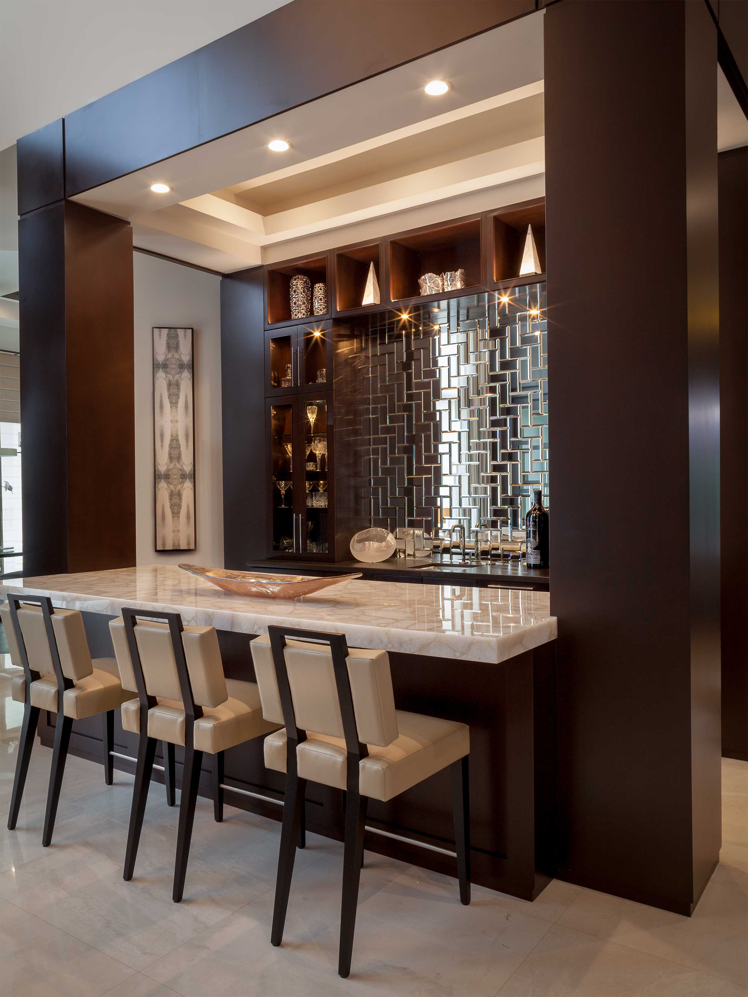 Elegant bar in Residential Interior Design Project in Jupiter, FL