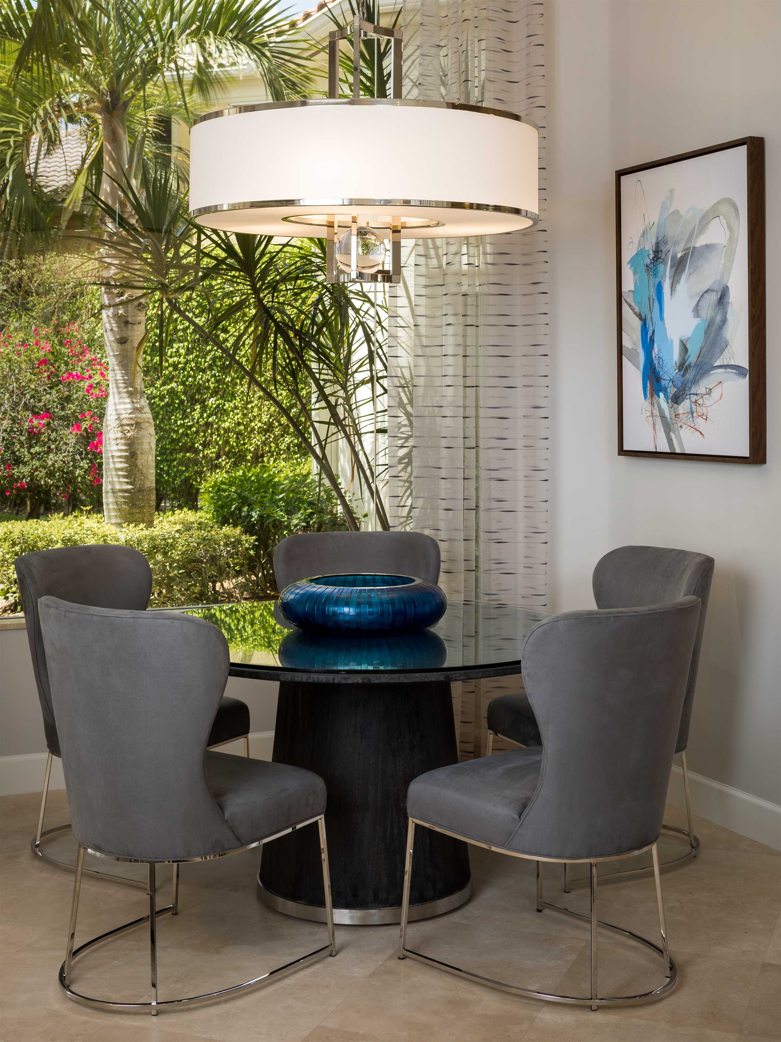 Contemporary design dining room at Admiral's Cove