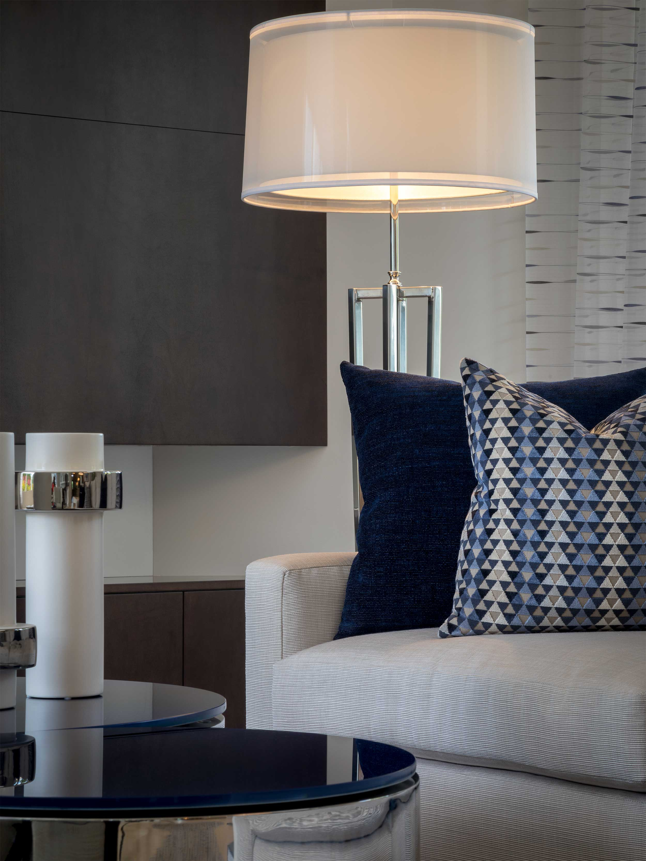 Contemporary design living room at Admiral's Cove 2